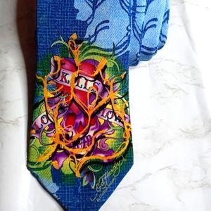 Ed Hardy Designer Silk Tie